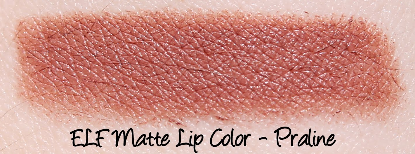 ELF Matte Lip Color - Praline Swatches & Review