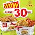 Promo CFC Terbaru Promo WOW Diskon Hingga 30 Ribu