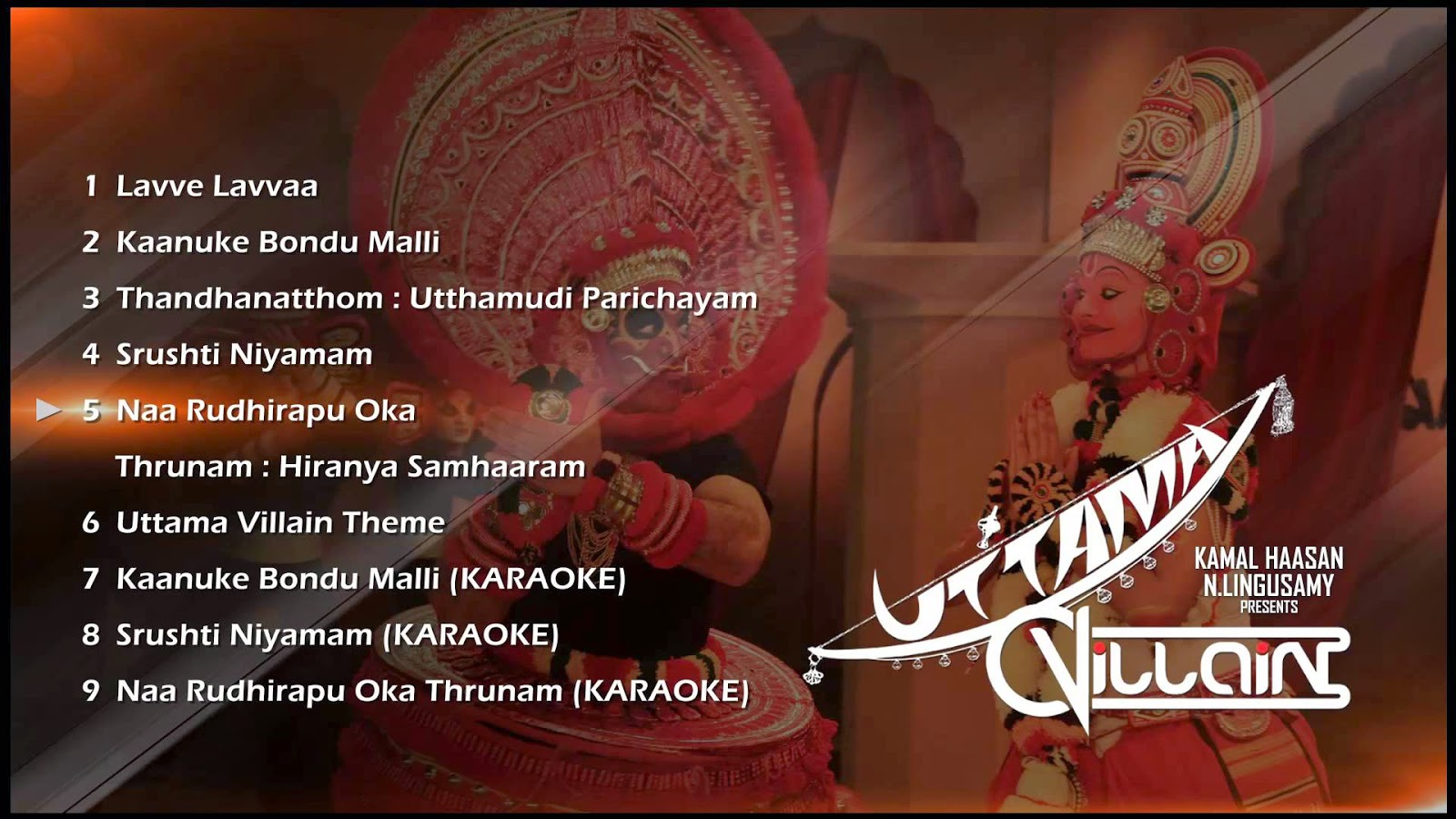 Uttama Villain Telugu Movie Full Audio Songs (Jukebox) | Kamal Haasan, Ghibran