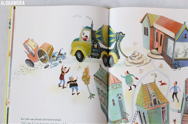 Sam and the Construction Site by Tjibbe Veldkamp gets 2.5/5 stars in my picture book review.  Cute pictures, but this book lacked editing.  Choppy text and an inappropriate picture for the young toddlers through Kindergarteners this book is geared to. Alohamora Open a Book http://alohamoraopenabook.blogspot.com/ sponsored