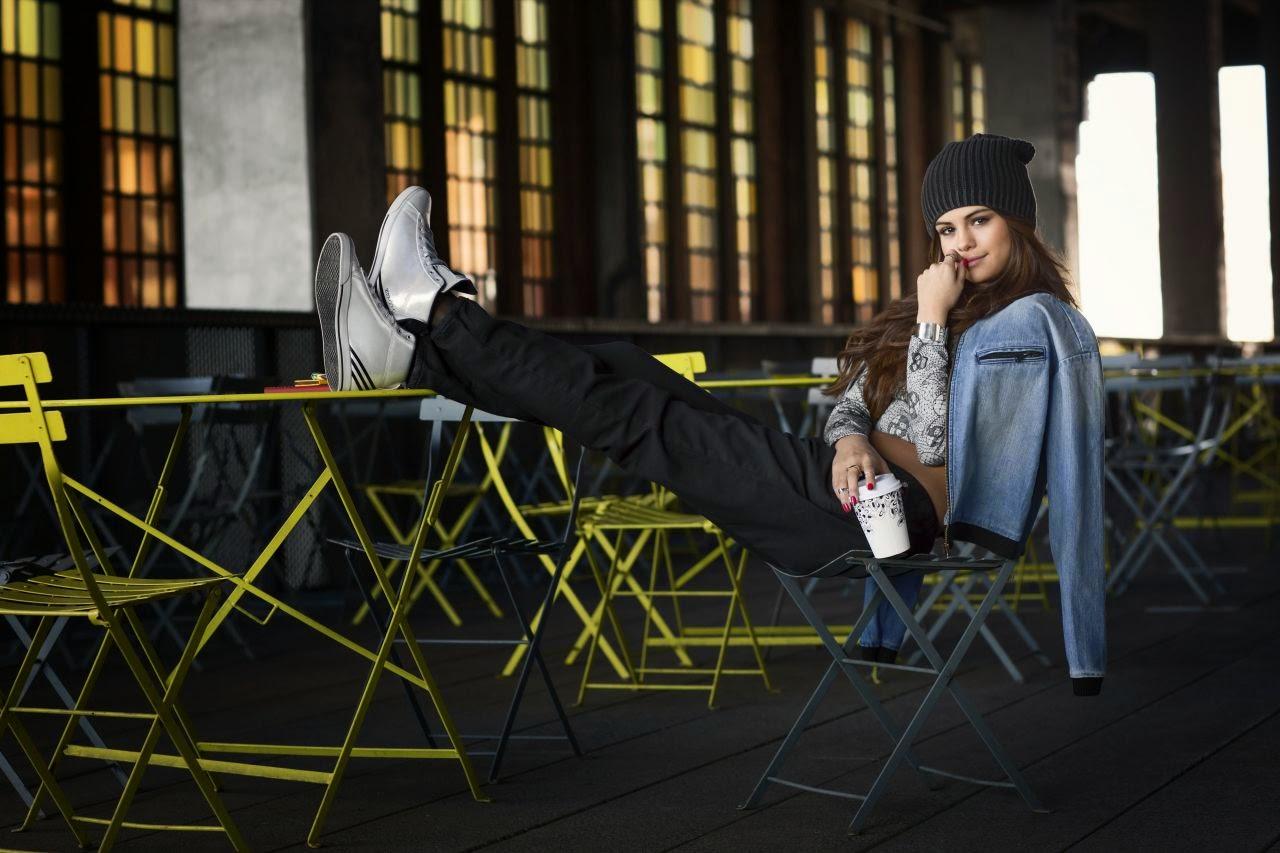Selena Gomez stars for the Adidas NEO FallWinter 2014 Campaign