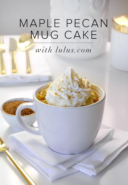 Maple Pecan Mug Cake