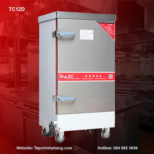 Tủ nấu cơm 12 khay sử dụng điện TCD12-2018