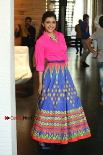 Actress Mannar Chopra in Pink Top and Blue Skirt at Rogue movie Interview  0101.JPG