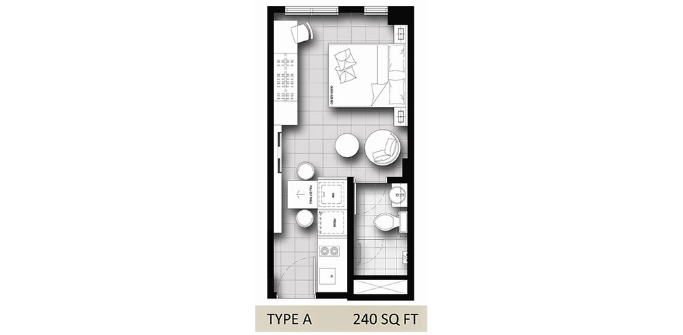 Hanson Court Suites Type A Floorplan