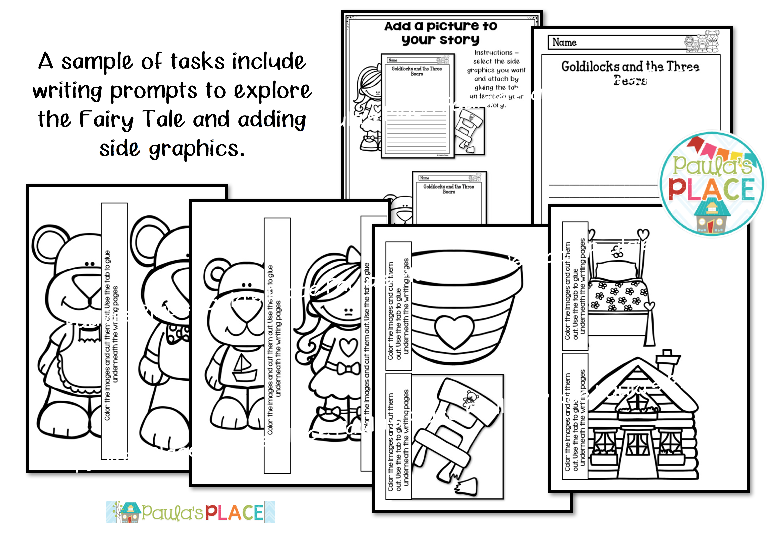 Paula's Place Teaching Resources: Goldilocks and the Three