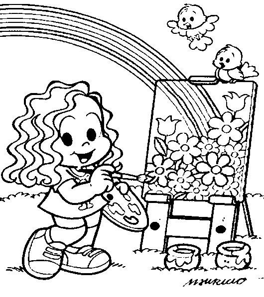Primavera Turma Da Monica 32 Desenhos E Atividades Para Colorir