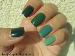 Green Ombre Natural Hair
