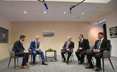 Vladimir Putin held a meeting with FIFA President Gianni Infantino.