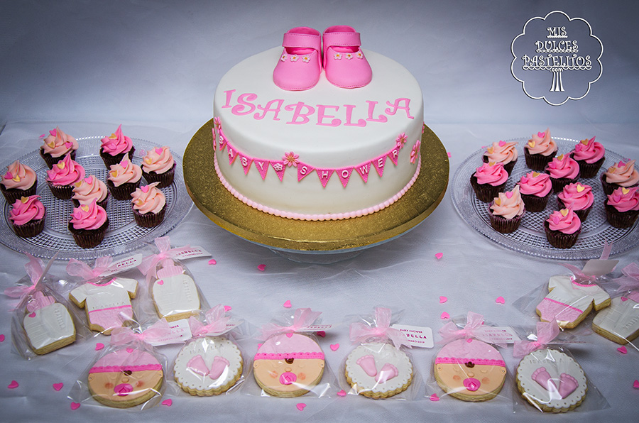 Mis dulces pastelitos for Mesa dulce para baby shower