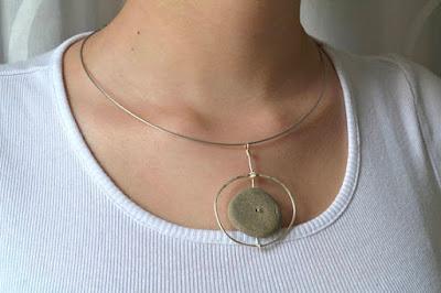 beach stone jewelry from IoKikkaDesign