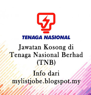 Jawatan Kosong Terkini di Tenaga Nasional Berhad (TNB) - 15 September  2016