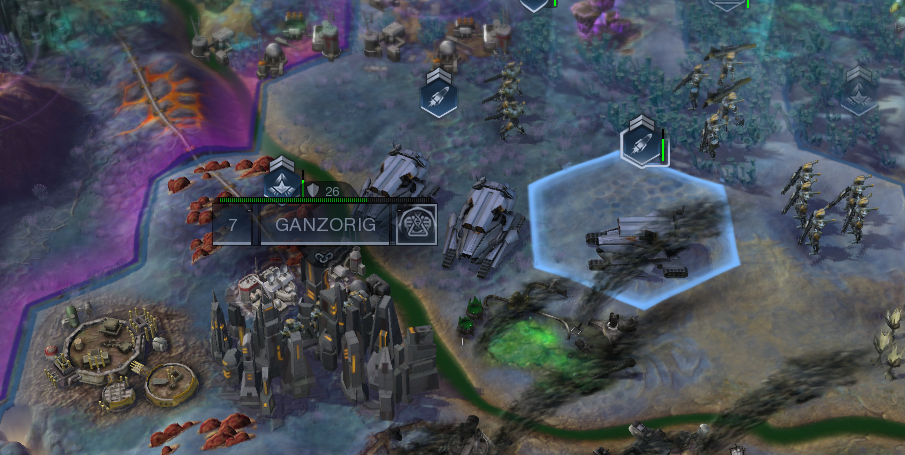 A recently-annexed city. This happens often when you're playing out a Supremacy scenario.