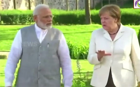 PM Modi Meets German PM and talks on Investments and Terrorism