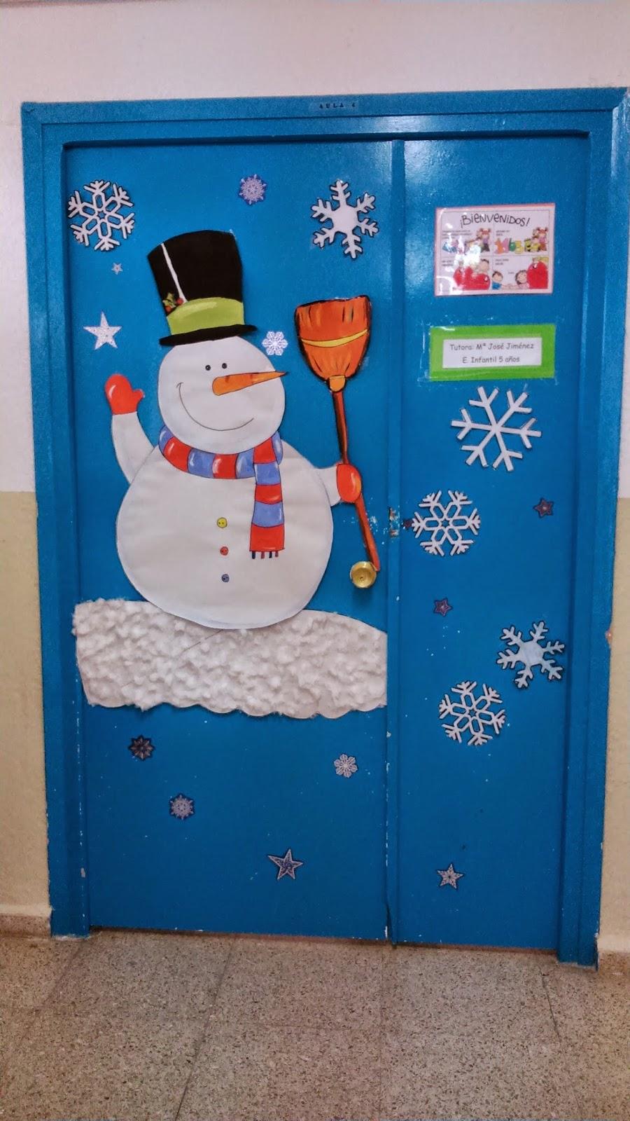 Engranajes decoraci n de navidad de las puertas en infantil for Decoracion puerta aula infantil