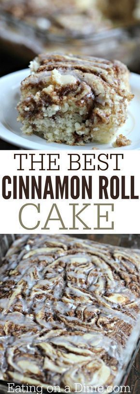 Who doesn't love a good coffee cake? You are going to love this fun twist to a traditional coffee cake recipe. You can eat it with breakfast since it has the words 'cinnamon roll' in the title. 😉 This also makes a good dessert after other meals if you can't bring yourself to eat 'cake' with breakfast. Either way, this is a moist and delicious cake.
