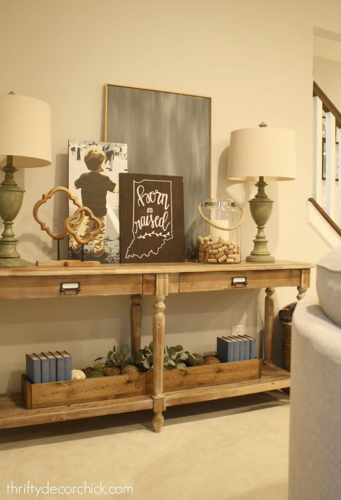 Everett sofa table decor