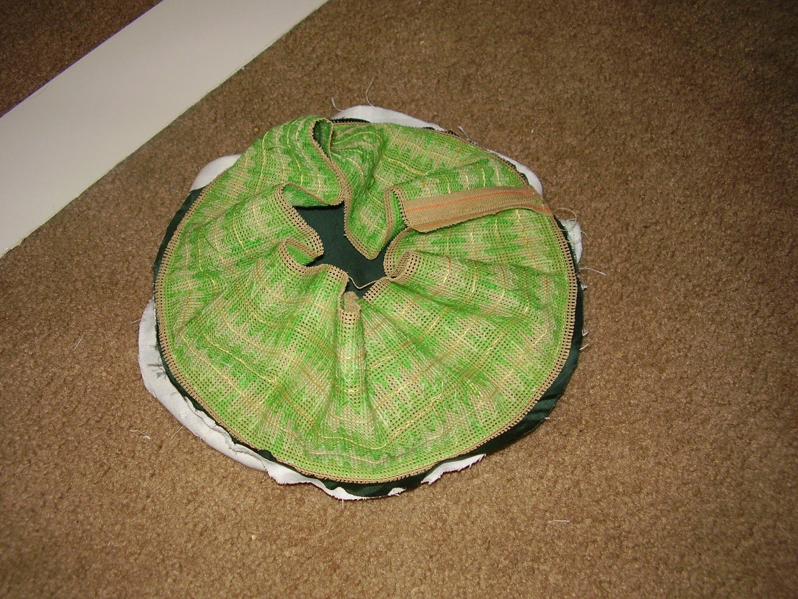 Inside-out work basket.