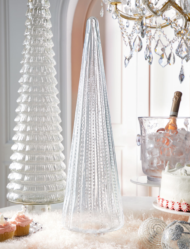 "26""-Clear Glass Tree"