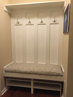 DIY Mudroom Bench, Mudroom, Ryan Homes Venice, Mudroom Bench