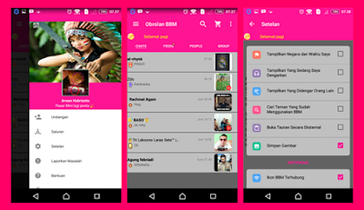 BBM MATERIAL PINK FULL FEATURES BASED 2.13.0.26 APK