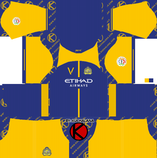 Al-Nassr FC 2018-2019 Kit - Dream League Soccer Kits