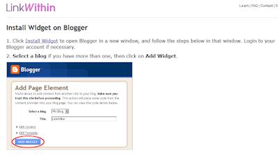 Como crear artículos relacionados con imágenes en blogger