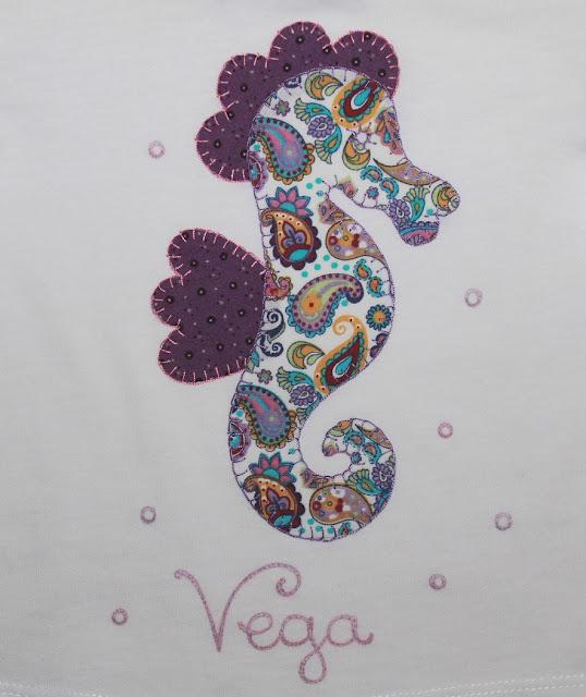 camiseta bebe caballito de mar