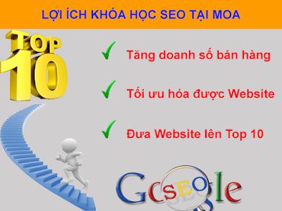 Khóa học SEO Ứng Dụng Đưa Website Lên Top 10 Google
