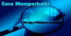Cara Memperbaiki Error 'This copy of Windows is not Genuine'