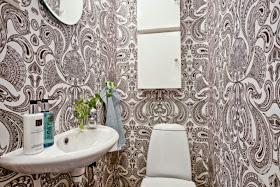 Fotos ideas para decorar casas - Papel pintado en banos ...
