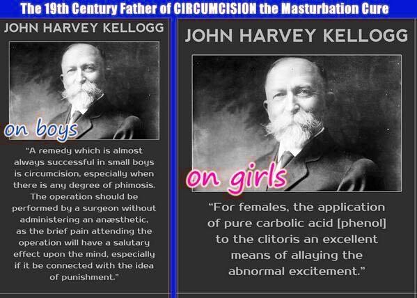 Kellogg masturbation circumcision