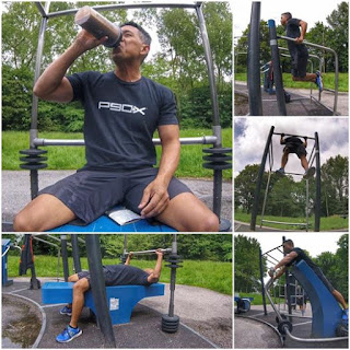 Outdoor Gym Park Amsterdam, Rembrandt Park Amsterdam, Beachbody Coach Travel, Digital Fitness Nomad
