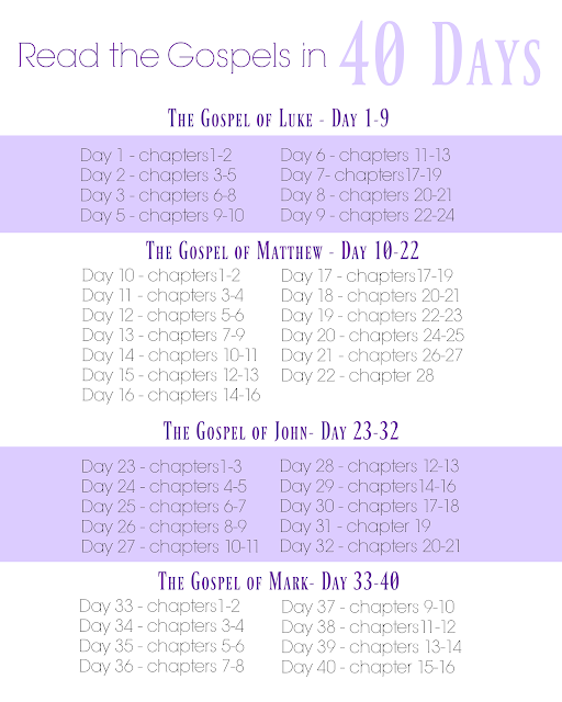 Read the Gospels in 40 Days