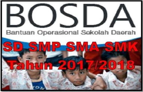 Juknis BOSDA Sekolah SD SMP SMA SMK Th. 2017/2018