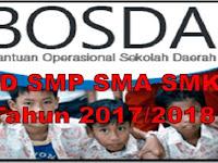 Juknis BOSDA Sekolah SD SMP SMA SMK Tahun 2017/2018