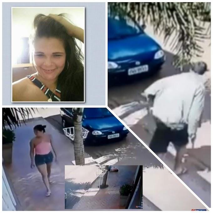 FEMINICÍDIO - Câmeras flagram jovem sendo morta a tiros pelo ex-marido no meio da rua