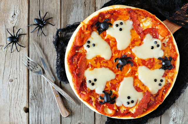 Spooky Ghost Halloween Pizza