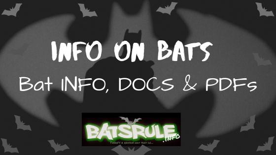 Bat INFO, DOCS & PDFs