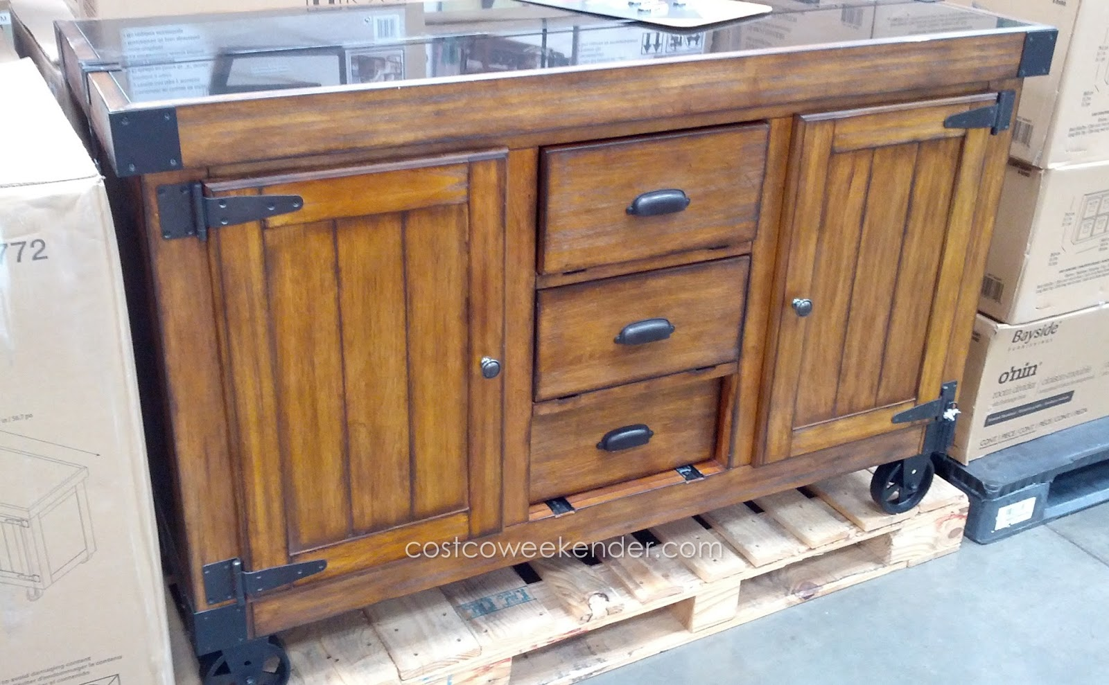 Regal Living Whitman Kitchen Cart Costco Weekender