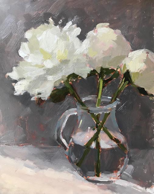 #339 'White Peonies' 11×14″