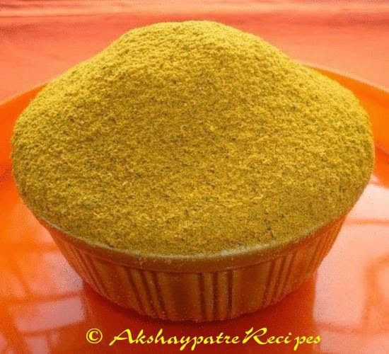 sambar powder ready to store