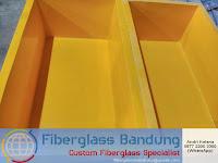 bak ikan fiber warna kuning 120x60x40 cm