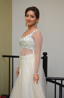 Anu Emmanuel in a Transparent White Choli Cream Ghagra Stunning Pics 125.JPG
