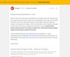 [RESMI] Google Plus Akan Segera Ditutup Tahun ini