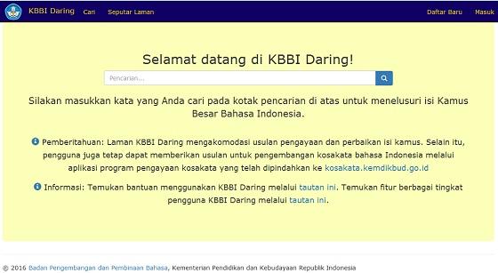 Kamus Besar Bahasa Indonesia (KBBI) Edisi V Tersedia Daring, Kunjungi kbbi.kemdikbud.go.id
