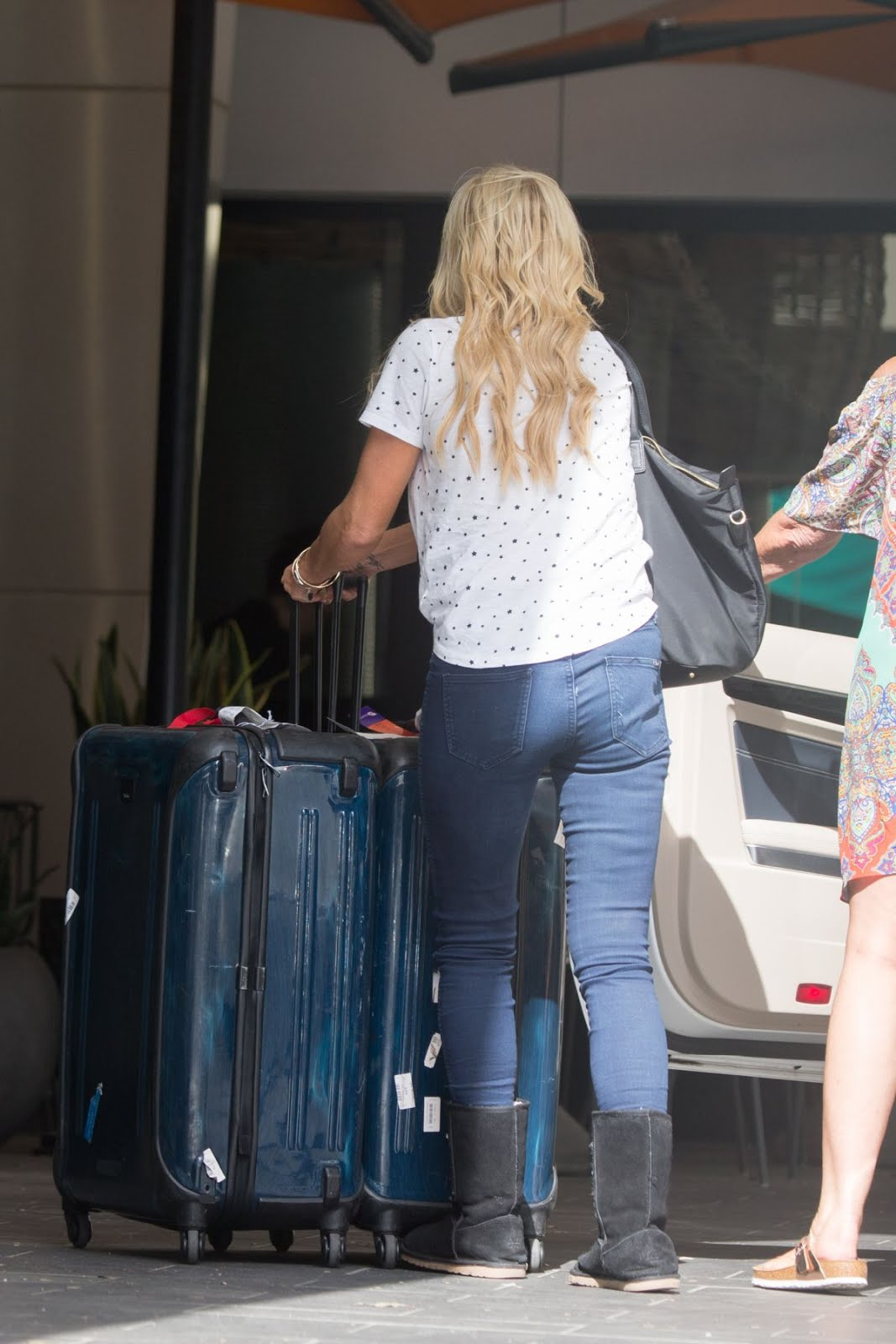 Photos of Sophie Monk Arrives at Her Hotel in Melbourne