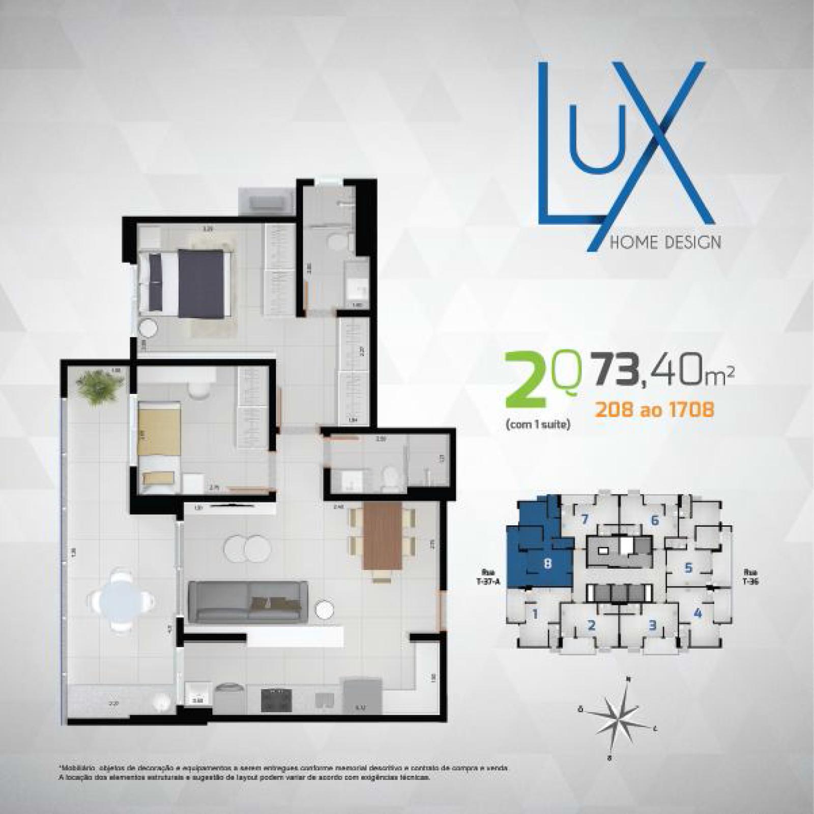 R$ 259.610,09   Apartamento compacto de Luxo com vista para a ...