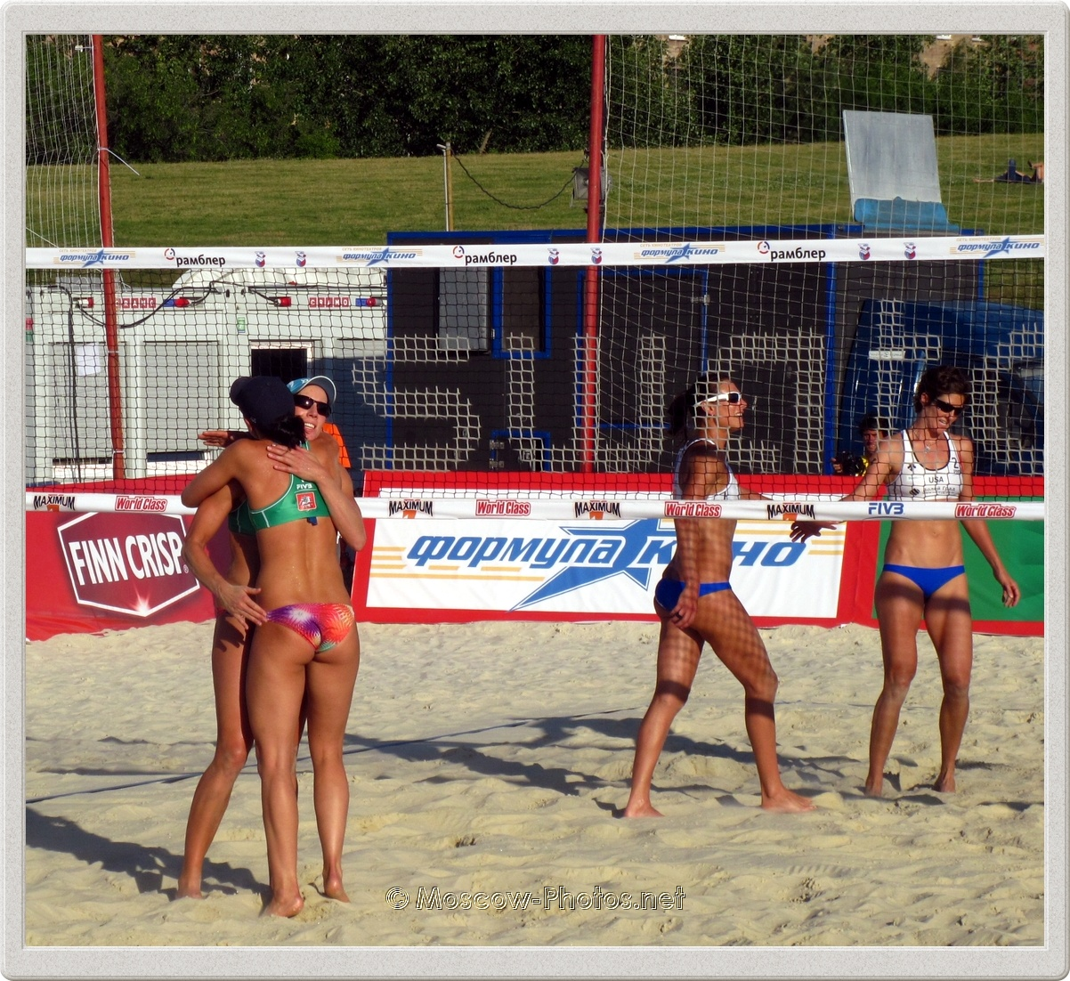 Beach volleyball the winning team