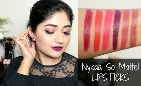 Nykaa Matte Lipsticks : Swatches, Review